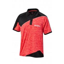 Andro Shirt Perkins black/red