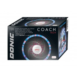 Donic 40+ Coach 120pcs White