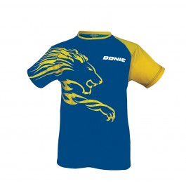 Donic T-shirt Lion blue/yellow