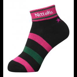 Nittaku 3-Star Socks Black/pink (2970)