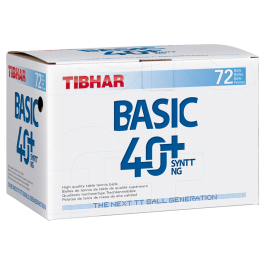 Tibhar Basic 40+ SYNTT NG (seam) 72 balls