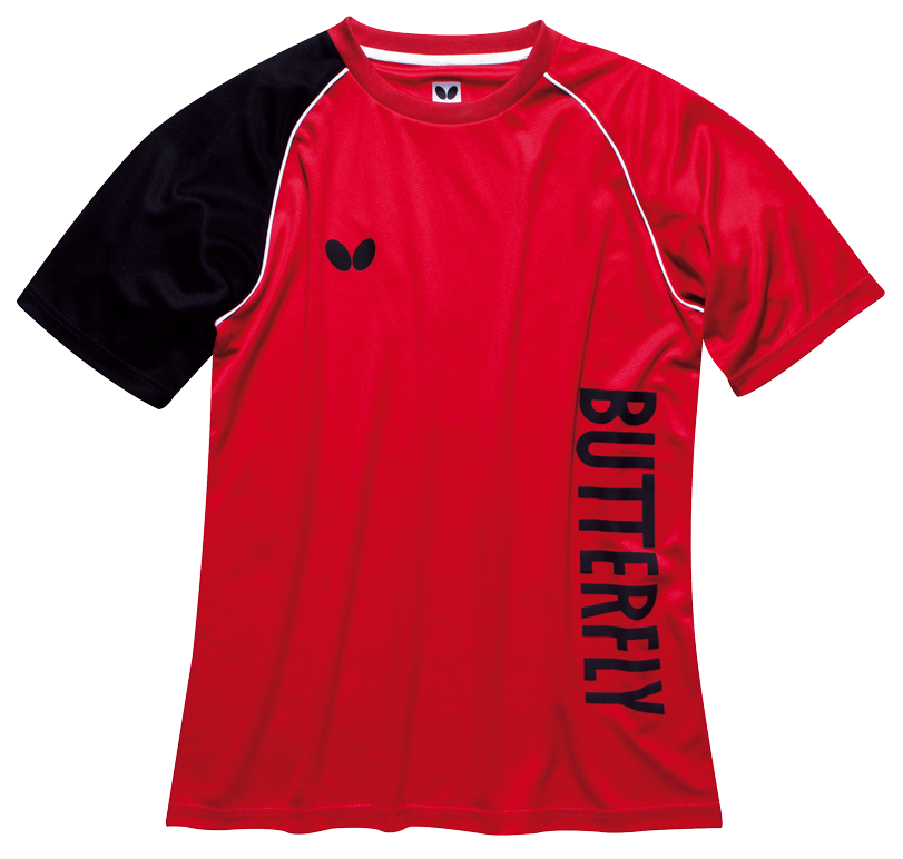 Butterfly t shirt aino tt11 for Table tennis shirts butterfly