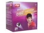 View Table Tennis Balls DHS D40+ 1* 120 Balls (seam)