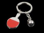 View Table Tennis Accessories Tibhar Key ring silver bat