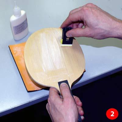 Gluing Table Tennis Rubber, Step 2