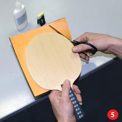 Gluing Table Tennis Rubber, Step 5