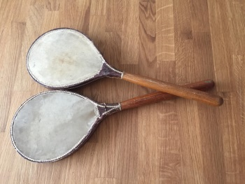 These rackets were produced at the very beginning of the 20th century