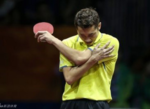 table tennis shoulder pain