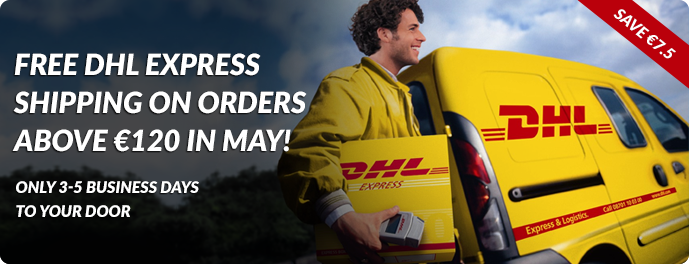 Free DHL 3-5 Day Shipping in May