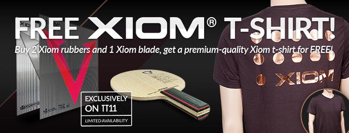 Free XIOM t-shirt